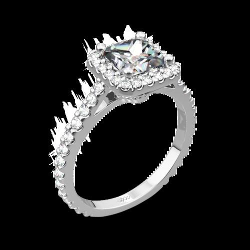 Amphora Diamond Engagement Ring for Princess