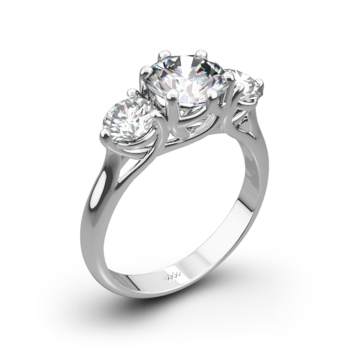 stone cz rings wedding jewelry ring blades and bling round princess sterling three channel carat silver set cut products