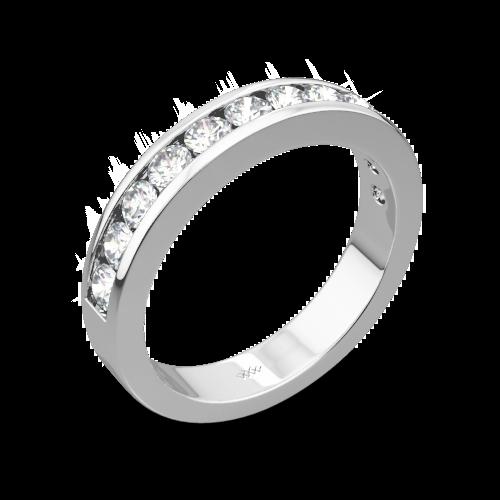 Channel-Set Diamond Wedding Ring
