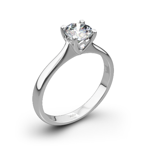Comfort Fit Surprise Solitaire Engagement Ring