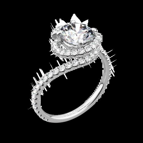 Danhov AE100 Abbraccio Diamond Engagement Ring