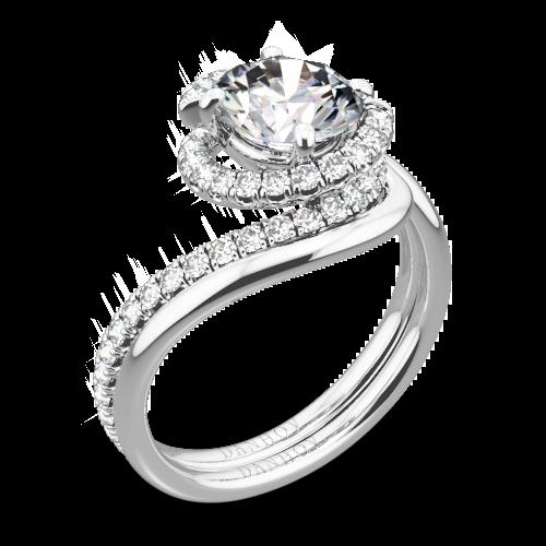 Danhov AE100 Abbraccio Diamond Wedding Set