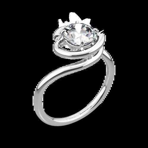 Danhov AE133 Abbraccio Solitaire Engagement Ring