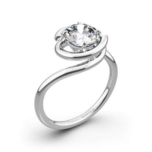 Danhov AE133 Abbraccio Solitaire Engagement Ring