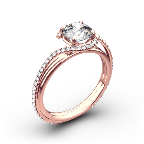 Danhov AE155 Abbraccio Diamond Engagement Ring