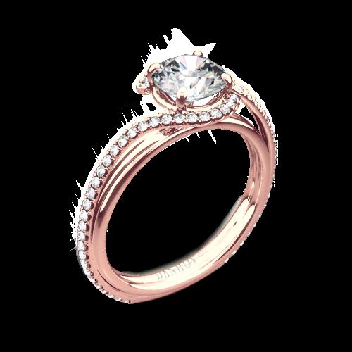 Danhov AE155 Abbraccio Diamond Engagement Ring