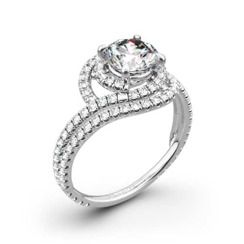 Danhov AE162 Abbraccio Diamond Engagement Ring