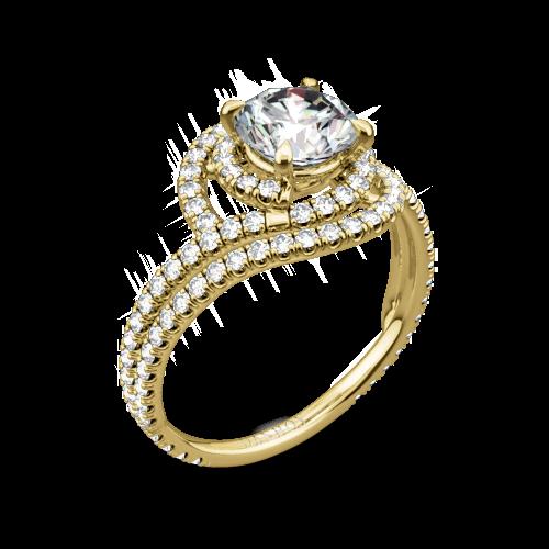 Danhov AE162 Abbraccio Diamond Engagement Ring