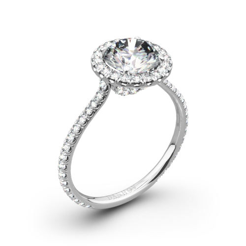 Danhov LE112 Per Lei Diamond Halo Engagement Ring