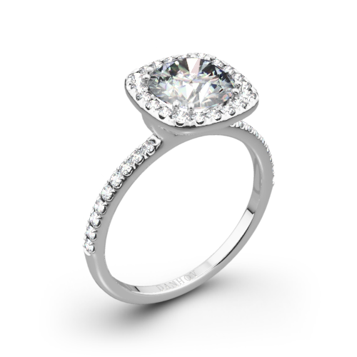 Danhov LE125 Per Lei Diamond Halo Engagement Ring