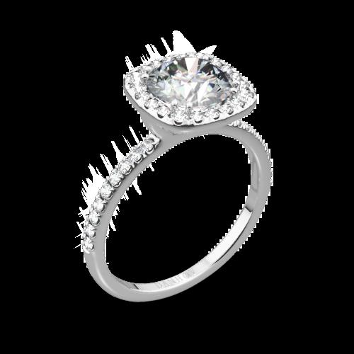 Danhov LE125 Per Lei Diamond Halo Engagement Ring