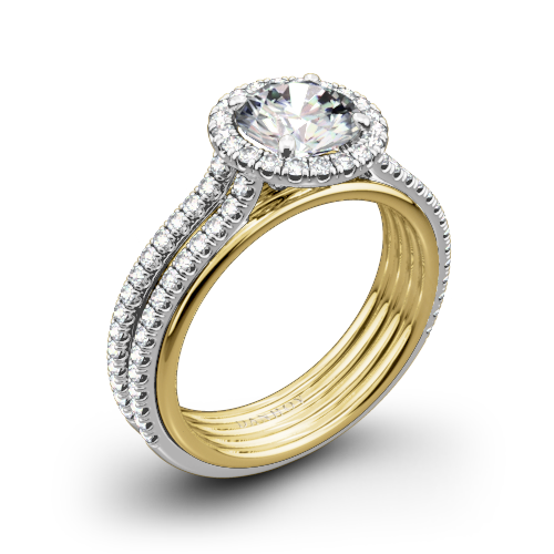Danhov UE103 Unito Diamond Two-Tone Engagement Ring