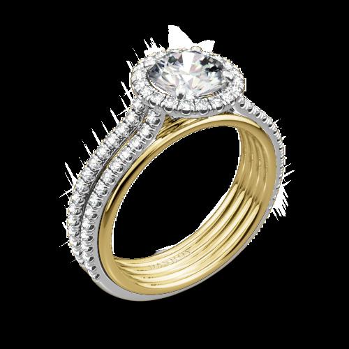 Danhov UE103 Unito Diamond Two-Tone Engagement Ring
