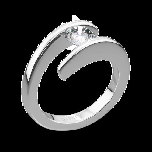 Danhov V119 Voltaggio Tension-Set Solitaire Engagement Ring