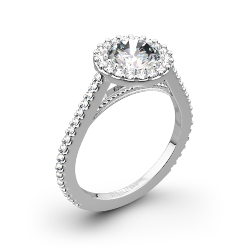 Danhov XE111 Carezza Diamond Halo Engagement Ring