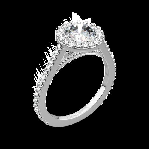 Danhov XE111 Carezza Diamond Halo Engagement Ring