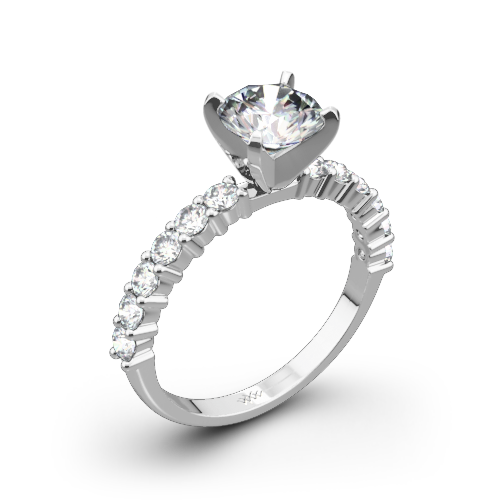 Diamonds for an Eternity Half Diamond Engagement Ring