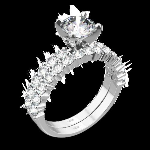 Diamonds for an Eternity Half Diamond Wedding Set