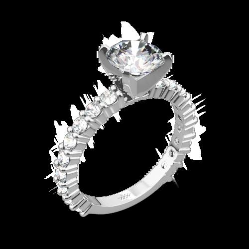 Diamonds for an Eternity Three Quarter Diamond Engagement Ring
