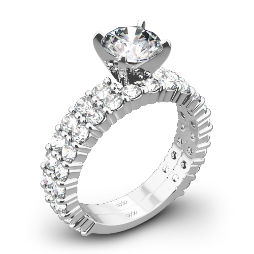 Diamonds for an Eternity Three Quarter Diamond Wedding Set