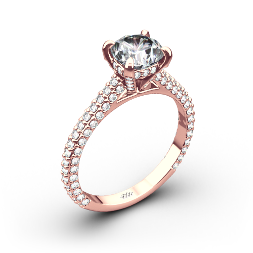 Elena Rounded Pave Diamond Engagement Ring
