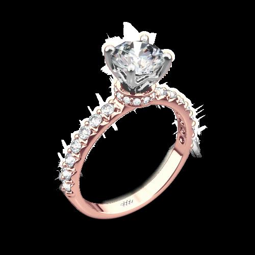 Eternity Wrap Diamond Engagement Ring