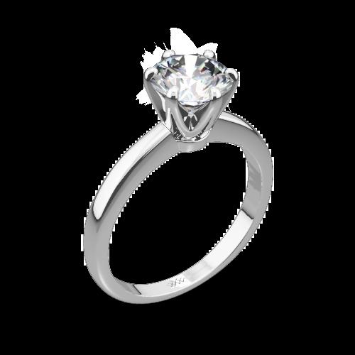 Exquisite Half Round Solitaire Engagement Ring