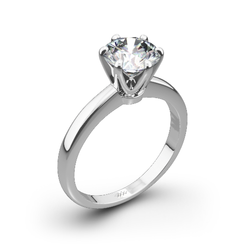 Exquisite Half Round Solitaire Engagement Ring