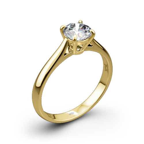 Fine Line Solitaire Engagement Ring
