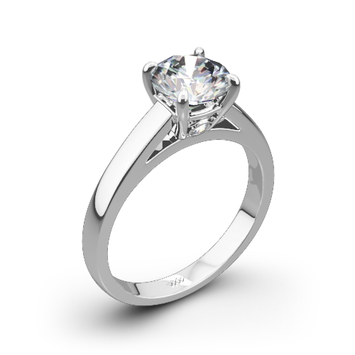 Flush-Fit Cathedral Solitaire Engagement Ring