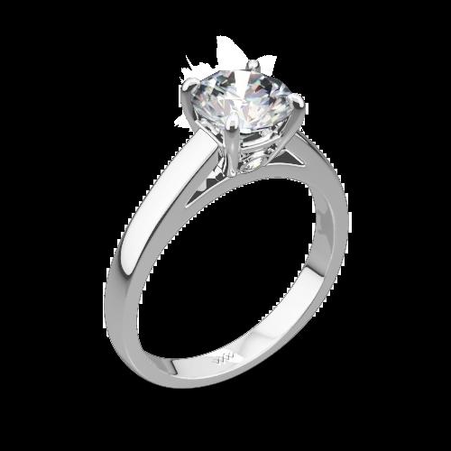 FlushFit Cathedral Style Diamond Ring 1208