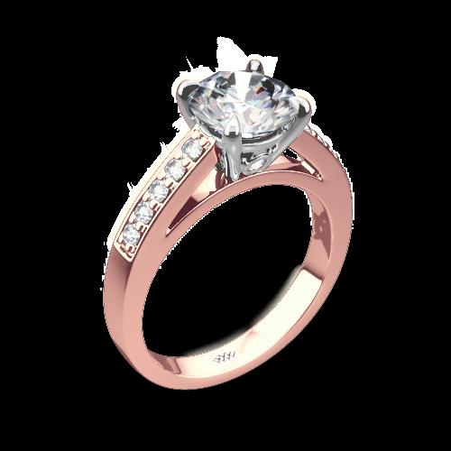 Flush-Fit Diamond Engagement Ring