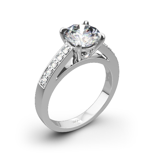 Flush-Fit Diamond Engagement Ring