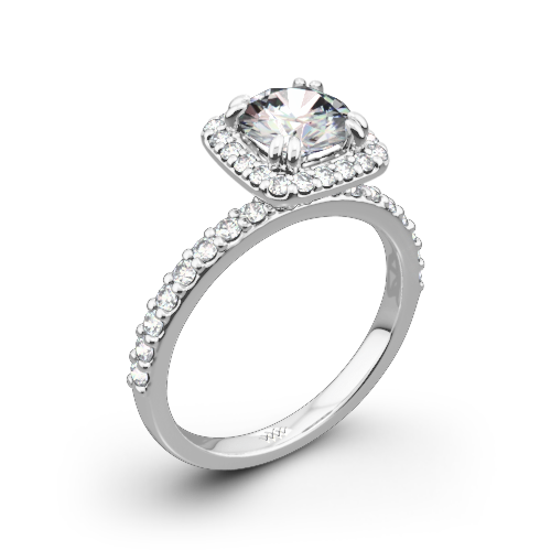 Gunievere Pave Diamond Engagement Ring