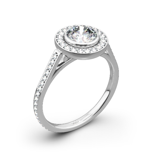 Halo Bezel Diamond Engagement Ring