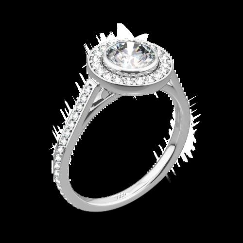 Halo Bezel Diamond Engagement Ring