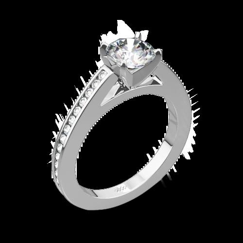 Honey Channel-Set Diamond Engagement Ring