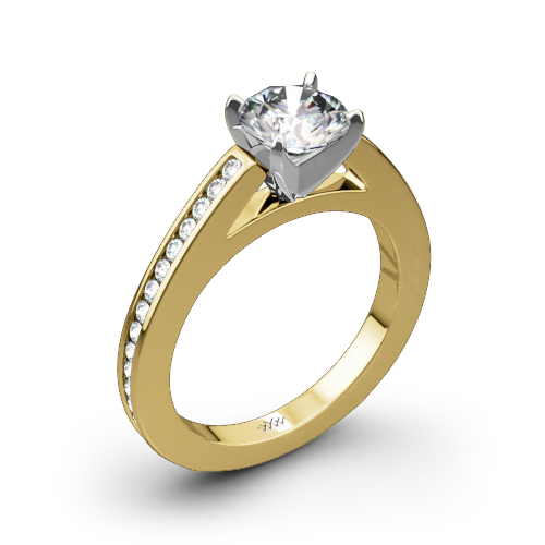 Honey Channel-Set Diamond Engagement Ring