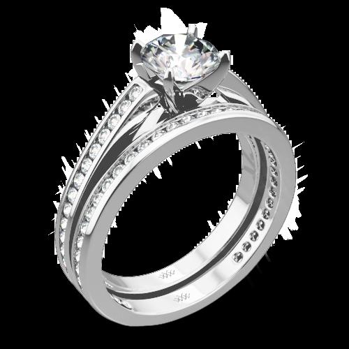 Honey Channel-Set Diamond Wedding Set