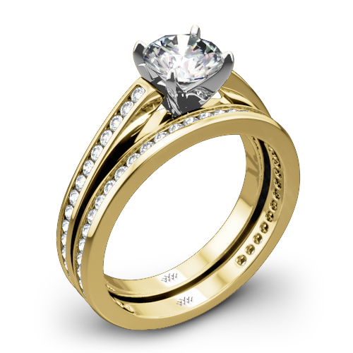Honey Channel-Set Diamond Wedding Set