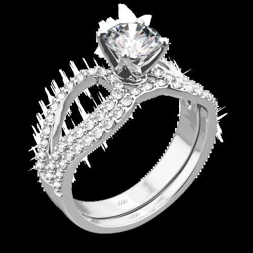 Infinity Diamond Wedding Set