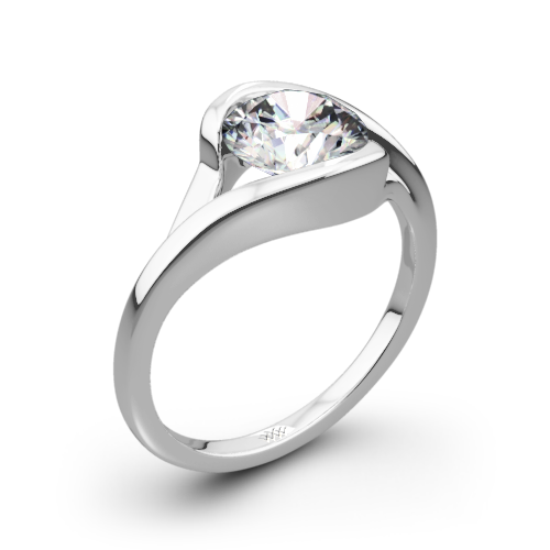 Iris Solitaire Engagement Ring