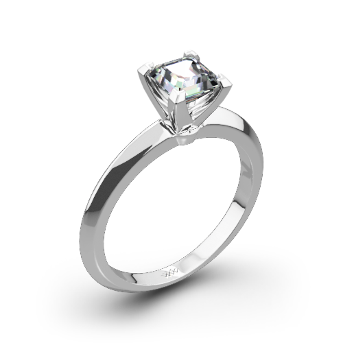 knife edge solitaire engagement ring for princess - Wedding Ring Princess Cut