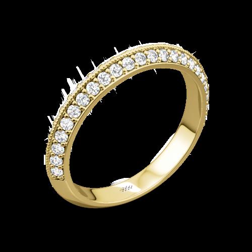 Knife-Edge Pave Diamond Wedding Ring