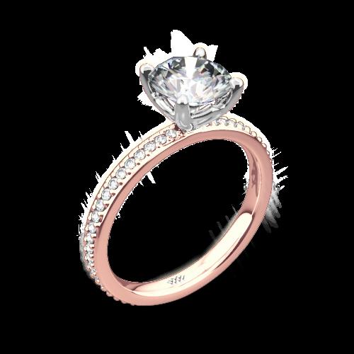 Legato Micro Pave Diamond Engagement Ring