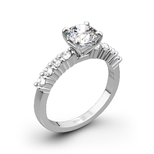 Legato Shared-Prong Diamond Engagement Ring
