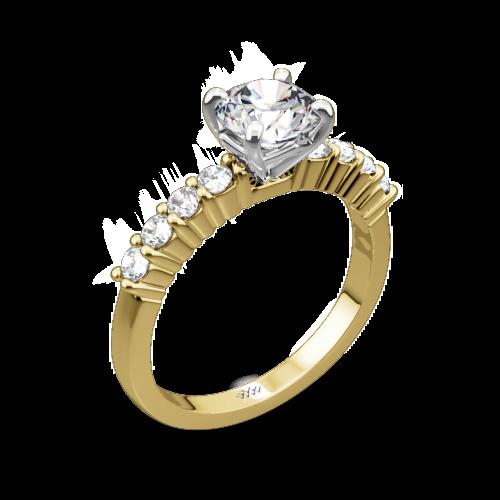 Legato Shared-Prong Diamond Engagement Ring
