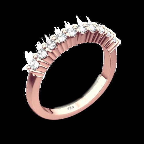 Legato Shared-Prong Diamond Wedding Band