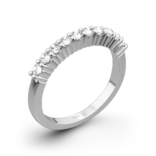 Legato Shared-Prong Diamond Wedding Band