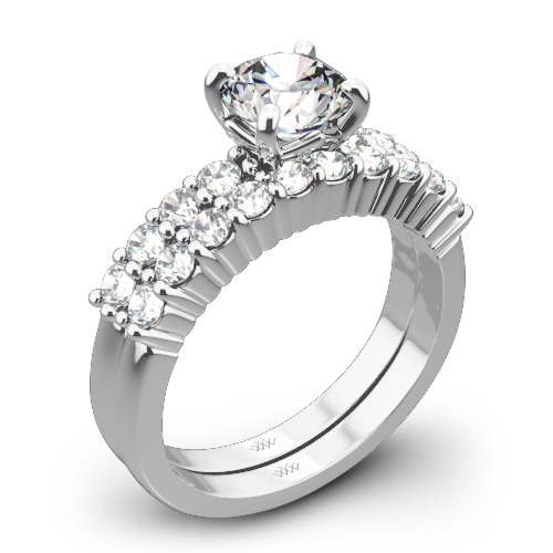 Legato Shared Prong Diamond Wedding Set